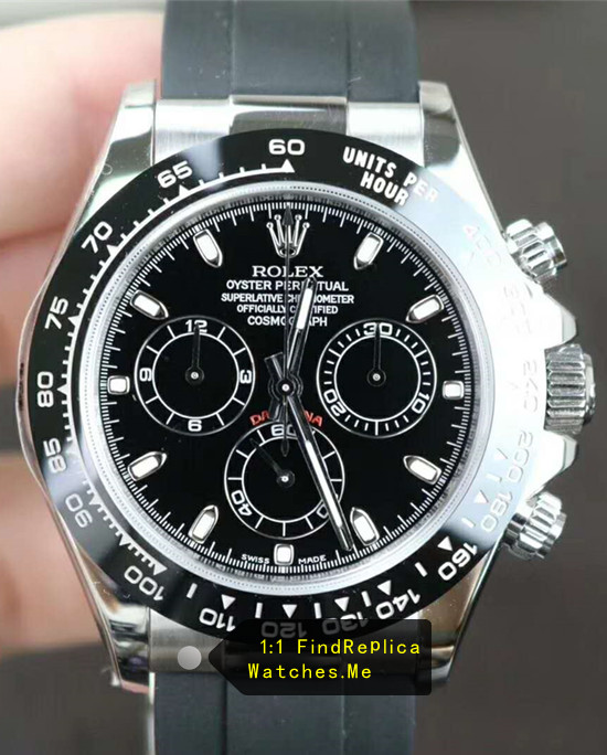 Rolex Daytona m116519ln Black Ceramic Bezel And Rubber Strap