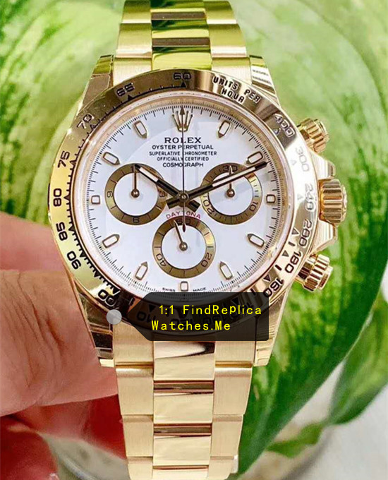 Replica Daytona m116508-0001 White Ceramic Face 18k-Gold Body Watch