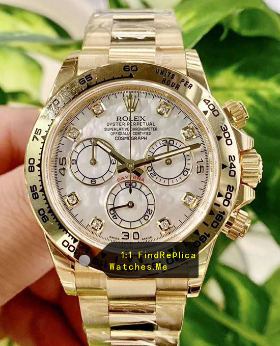 Rolex Daytona m116508-0007 White Seashell Dial With Diamond Time-Scale