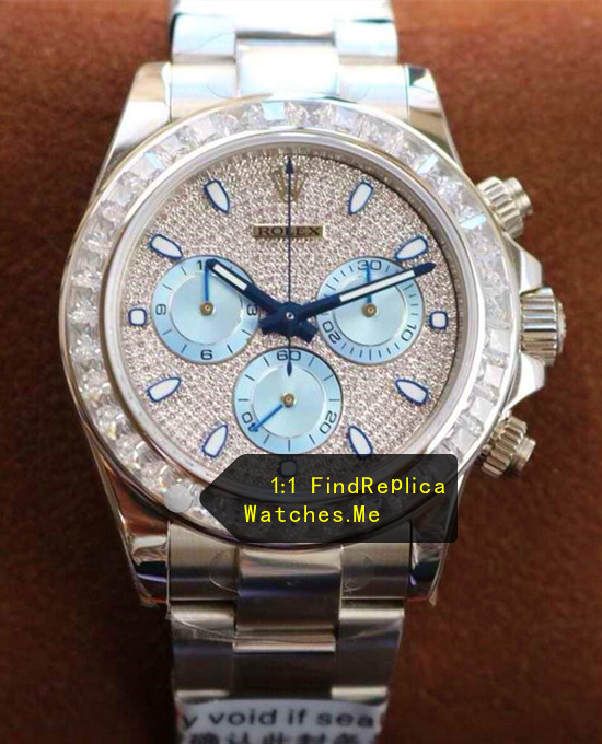 Rolex Daytona 116589 Diamond Bezel With Ice Blue Chronograph