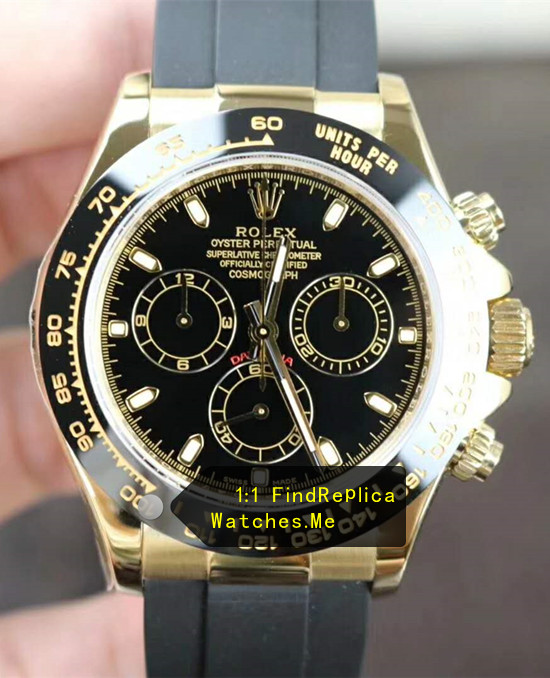 Rolex Daytona m116518ln-0035 Black Ceramic Bezel With 18CT-Gold