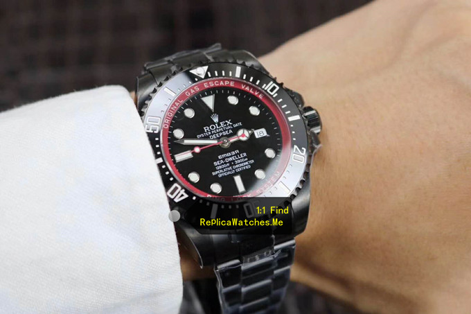 Replica Rolex Sea Dweller 116660 Black Special Edition Deepsea on the Wrist