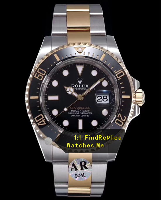 Rolex Sea Dweller m126603 43mm Gold Steel Watch AR-Factory
