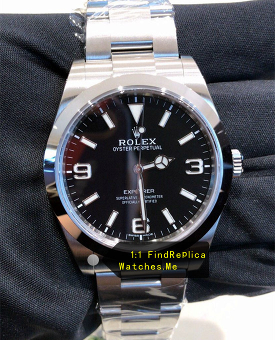 Rolex Explorer-I 214270-77200 Black 39MM Face