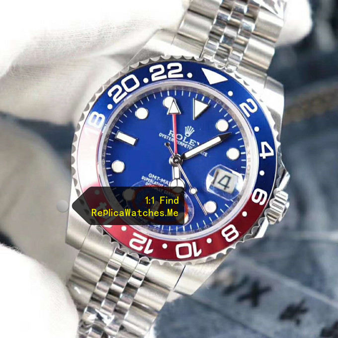 Replica Rolex GMT Master 116719 Blue Face with Red Blue ceramic Bezel
