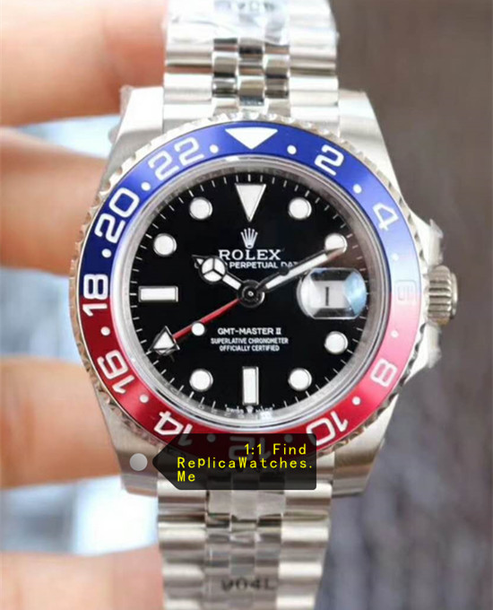 Rolex GMT Master 116719-BLRO Red Blue Bezel Black Face
