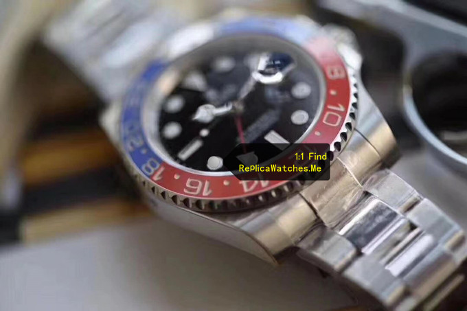 Replica Rolex GMT Master 116719-BLRO Red Blue ceramic Bezel
