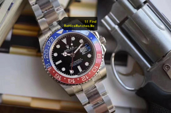 Replica Rolex GMT Master 116719-BLRO Red Blue ceramic Bezel wth Black Face