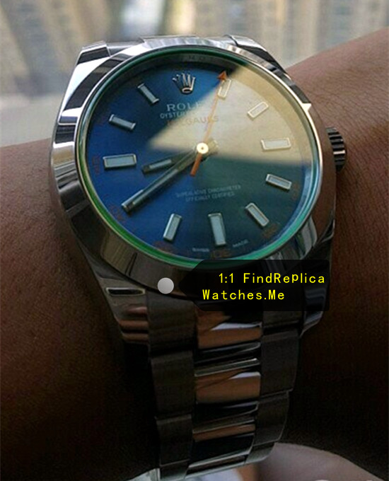Replica Rolex Milgauss 116400-GV-72400 Blue 40MM Face