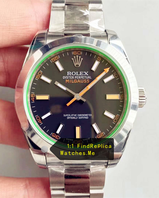 2019 Replica Rolex Milgauss 116400 Green Glass