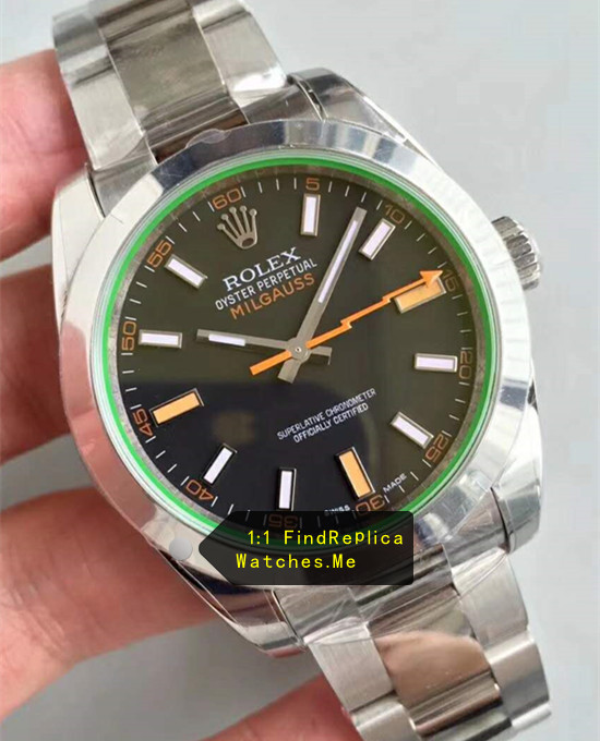 2019 Replica Rolex Milgauss 116400 Green Glass Watch