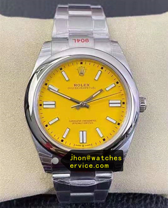 2020 41MM Yellow Dial Rolex Oyster m124300-0004