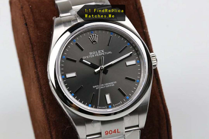 Replica Rolex Oyster m114300-0001 Gray Face 904L Steel Watch
