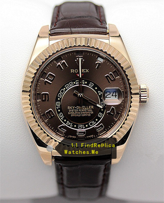Rolex Sky Dweller 326935 Chocolate Face With 18CT Rose Gold