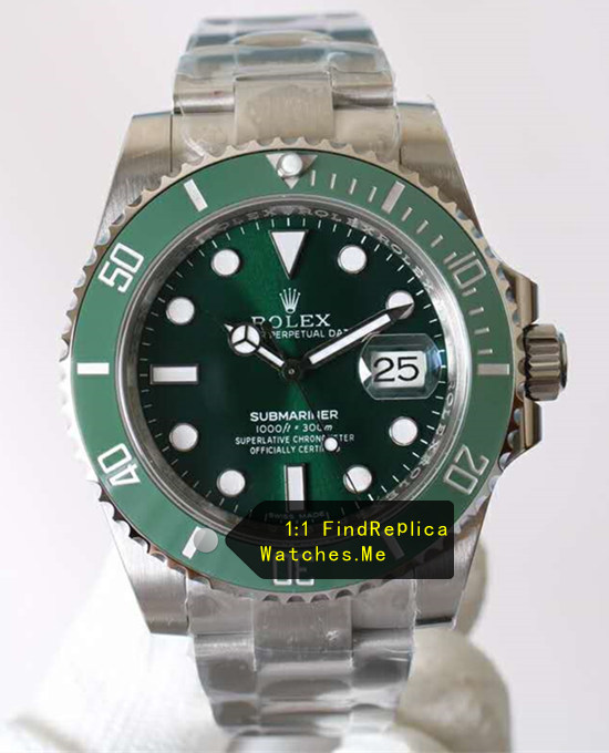 2017 AR Factory Green Rolex Submariner 116610LV Watch