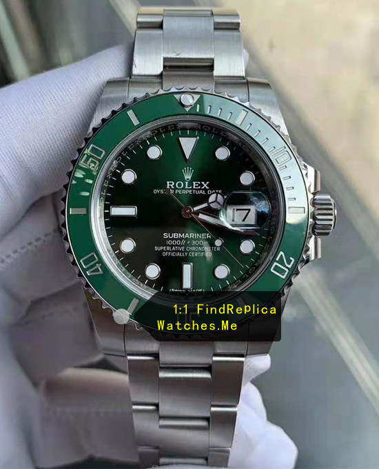 2017 AR Factory Replica Green Rolex Submariner 116610LV Watch