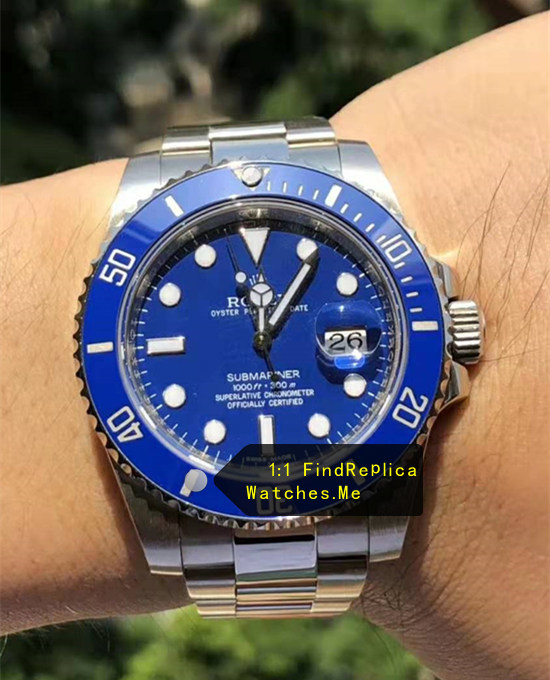 2019 AR Factory Blue Rolex Submariner 116613LB Watch
