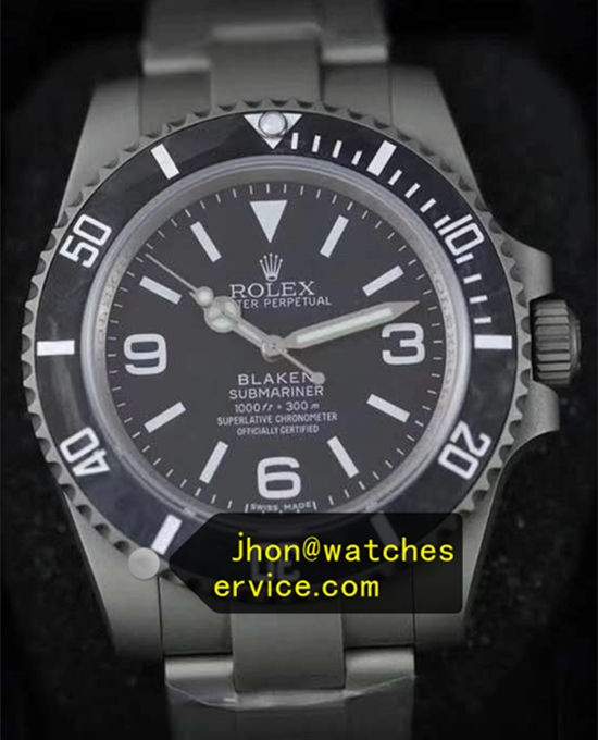 Blaken Cement Gray Rolex Submariner