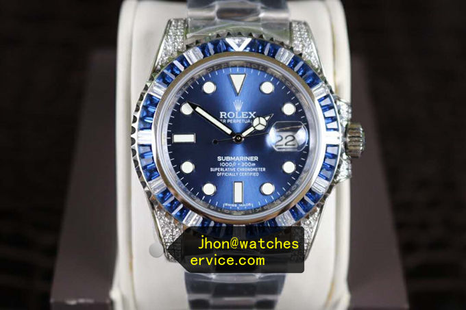 Blue Rolex Submariner 116659SABR Blue Moissanite replica watch