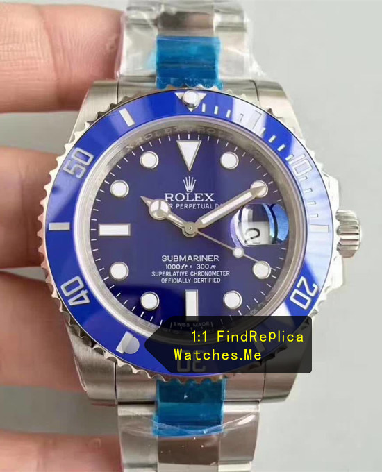 Blue Rolex Submariner 40mm 904L Steel N-Factory Watch