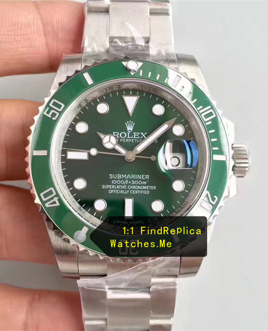 Green Rolex Submariner 40mm 904L Steel N-Factory
