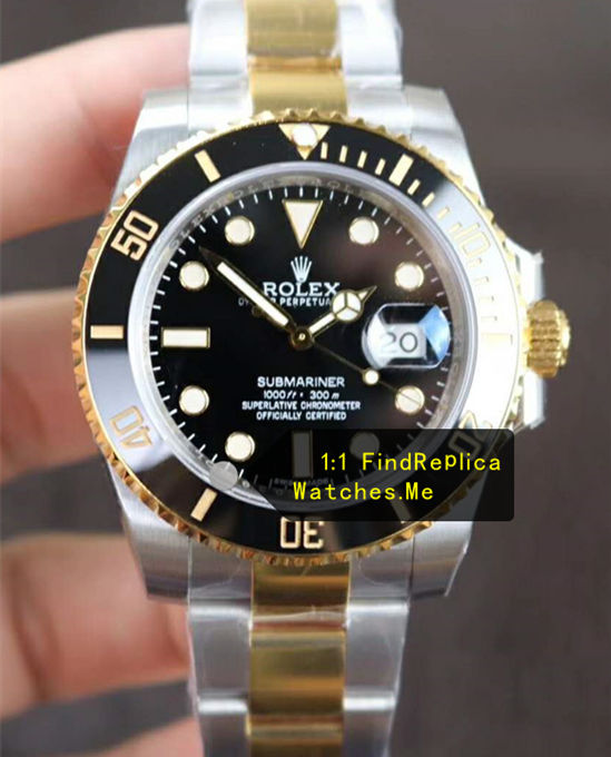Rolex Submariner 116613-LN-97203 18K-Gold With 904L Steel N Factory