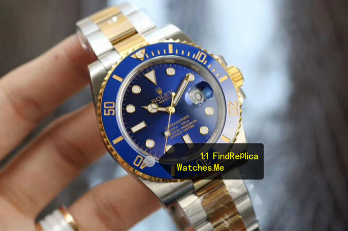 Fake Submariner 116613LB-97203 Navy Blue Face watch