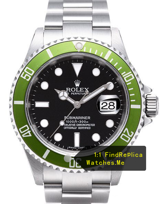 Rolex Submariner 16610LV-93250 Green Bezel With Black Face