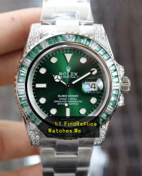 Limited Rolex Submariner Sapphire Geen 40MM For Men And Women