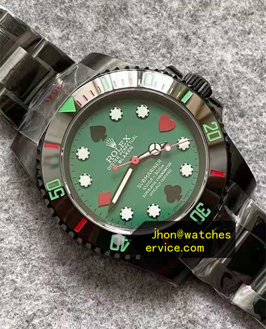 Poker Green Dial Blaken Rolex Submariner