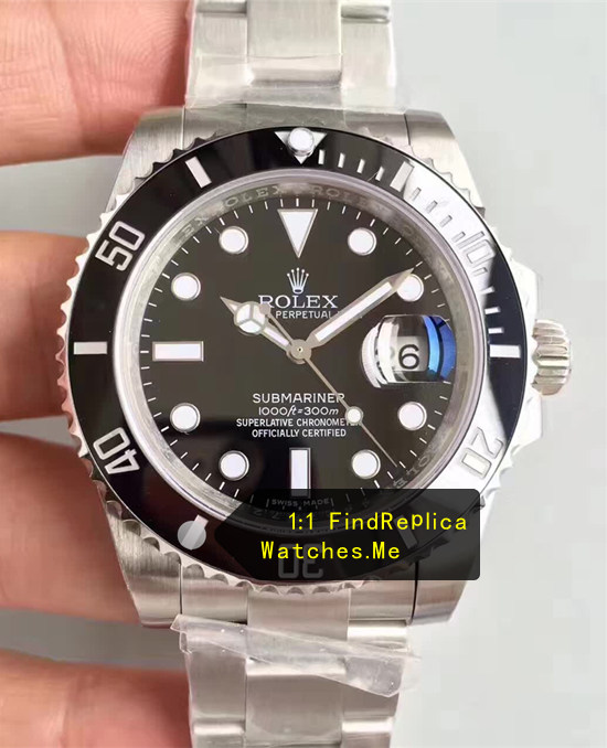 Black Rolex Submariner 40mm 904L Steel N-Factory Watch