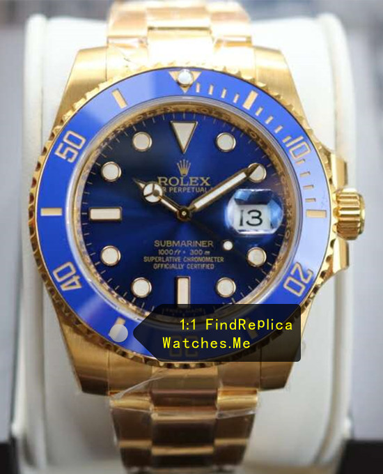 Replica Rolex Submariner 116613LB 18k-Gold Watch