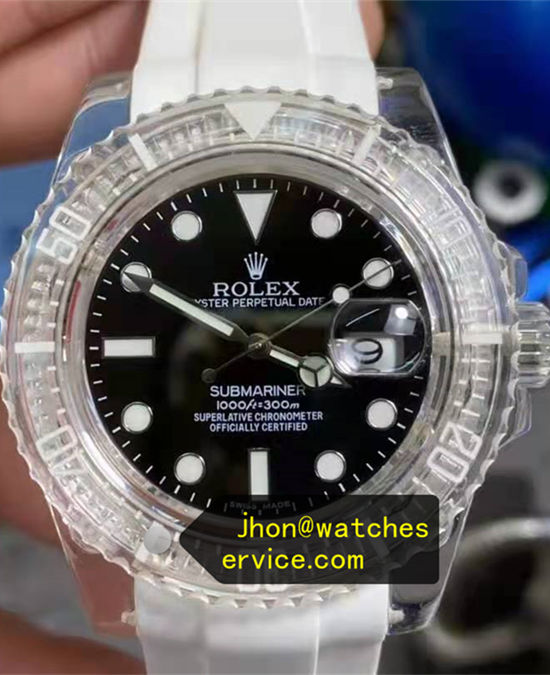 Transparent Crystal Bezel 40MM Rolex Submariner 116610LN