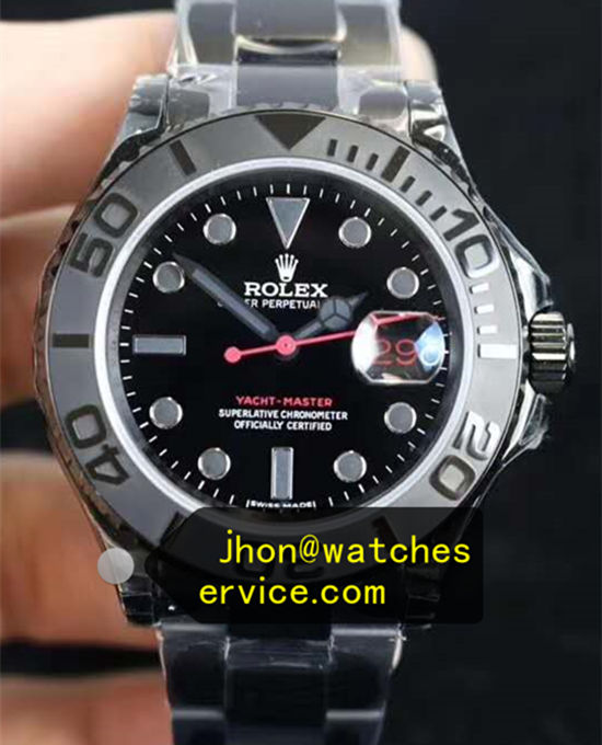 Black Pvd Steel Rolex Yacht-Master 40mm