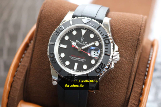 Replica Rolex Yachtmaster 116655 White Gold