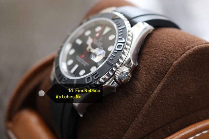 Replica Rolex Yachtmaster 116655 White Gold side