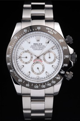 Daytona Black Enameled White Dial 116520