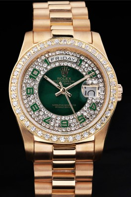 Green Rolex Day Date 118348 Diamonds