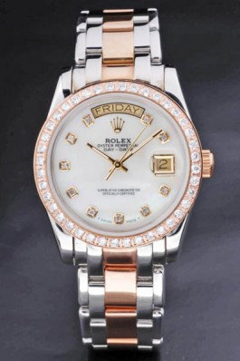 Rolex Day-Date 36MM m128348rbr Diamonds Steel