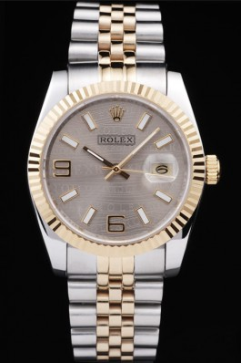 Rolex Gray Dail 39MM Oyster Steel
