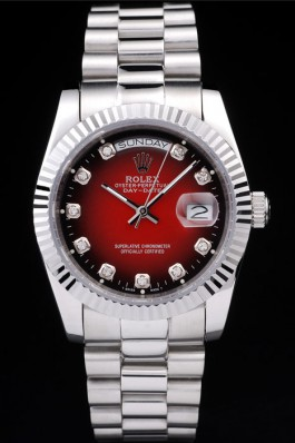 Red Dial Rolex Day-Date 36MM m128239