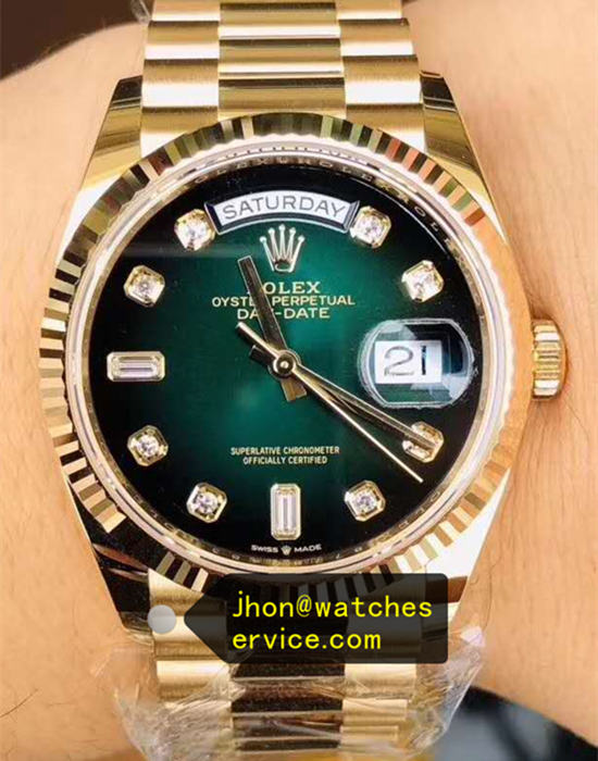 36MM Gradient Green Rolex Daydate m128238-0069