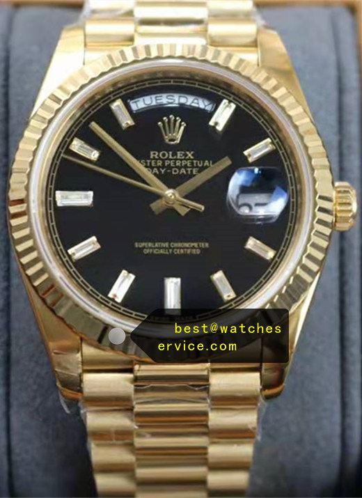 40mm Black Rolex Day-Date m228238-0004