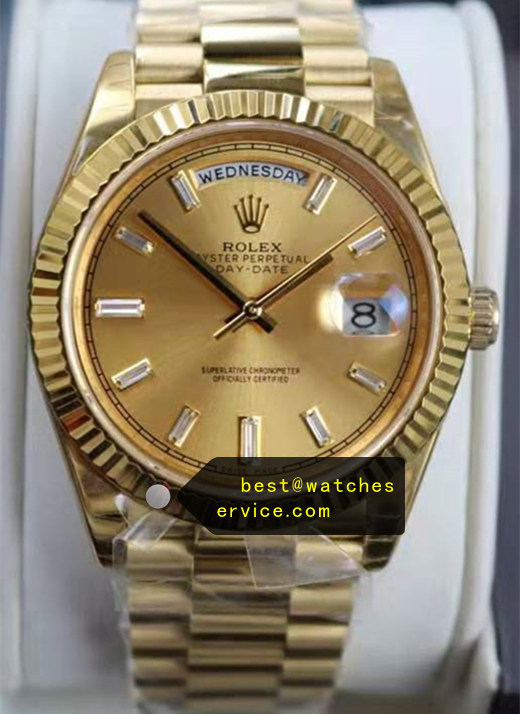 40mm Champagne Rolex Day-Date m228238-0005