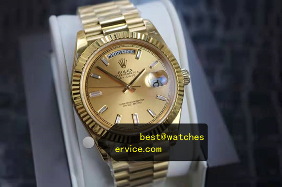 40mm Champagne Rolex Day-Date m228238-0005 replica watch