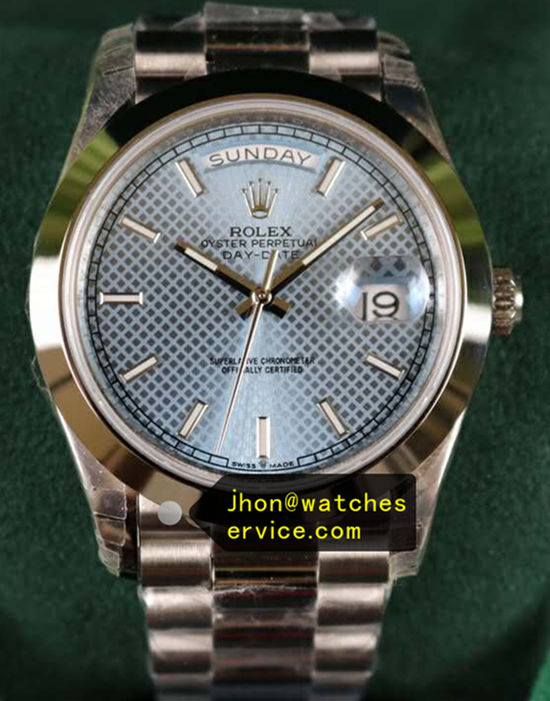 40mm Mesh Blue Rolex Day-Date m228206-0004