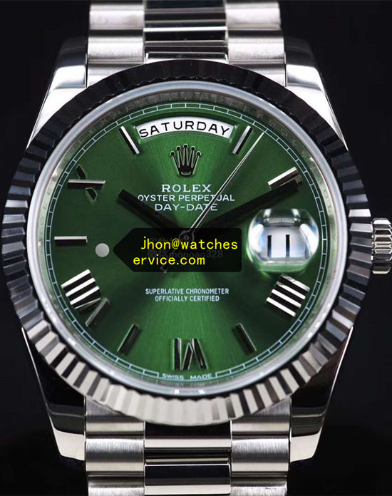 40mm Olive Green Rolex Day-Date m228239-0033