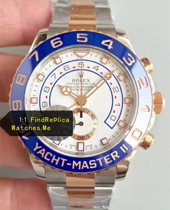 44MM Rolex Yacht-Master 116681 Steel Inlaid Gold