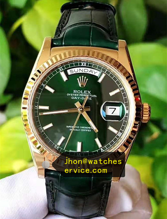 AR 36MM Rolex Day Date 118138 Green