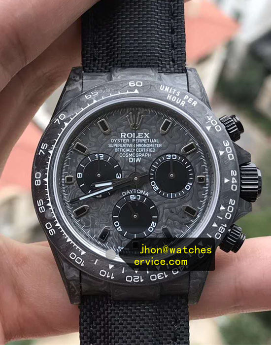 AR All Black Fiber Rolex Daytona Chronograph